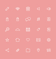 Line Website Icons Set vector image vector image