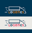logistics icon company business logo truck vector image