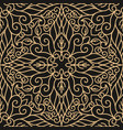 luxury seamless pattern with gold mandala vector image