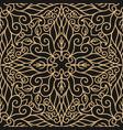 luxury seamless pattern with gold mandala vector image
