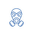 mask line icon concept mask flat symbol vector image vector image