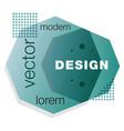 minimalistic design creative concept modern vector image vector image