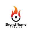 modern fire circle logo template vector image vector image