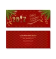 New Year 2017 Red christmassy backgrounds vector image vector image