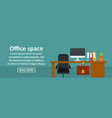 office space banner horizontal concept vector image vector image