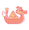 orange dragon rice dumpling paddling festiva vector image vector image