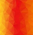 orange yellow polygonal triangular pattern vector image vector image