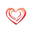 outline of hearts icon vector image