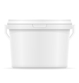 plastic bucket for paint 07 vector image vector image