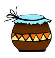 pot for storage drawing by vector image