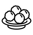 propolis balls icon outline style vector image vector image