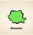 romania - outline map vector image