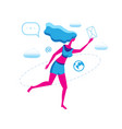 running girl with letter icon isolated vector image vector image