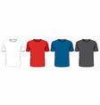 set t-shirts on white background vector image