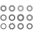 set template in form a nice circle vector image