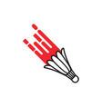 smash badminton icon design template isolated vector image