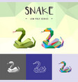 snake chinese zodiac animals low poly logo icon vector image vector image