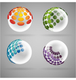 sphere dots glass vector image vector image