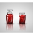 strawberry jam on white background vector image vector image