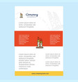 template layout for candle comany profile annual vector image