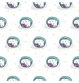 tuna roll sushi seamless white pattern vector image