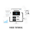 tutorial and study course online concept online vector image