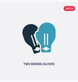 two color two boxing gloves icon from sports vector image vector image