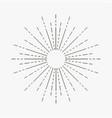 vintage sunburst linear rays sun starburst vector image vector image