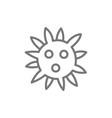 virus bacteria line icon vector image vector image