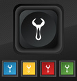 wrench icon symbol Set of five colorful stylish vector image
