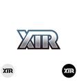 X T and R letters sport font ligature logo vector image vector image
