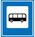 Bus stop sign traffic road sign vector image
