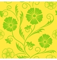 Bright floral ornate seamless pattern vector image