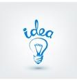 design element Hand drawn light bulb vector image