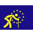 An aging Europe European Union flag vector image