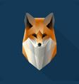 polygon fox vector image
