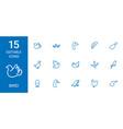 15 bird icons vector image vector image