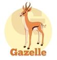 abc cartoon gazelle vector image vector image
