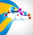 artistic cloud vector image vector image