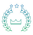 award crown wreath laurel honor sport vector image