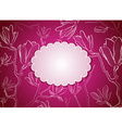 Bright Pink Floral Frame vector image vector image