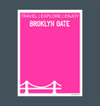 broklyn gate new york usa monument landmark vector image