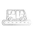 bus street service public urban vehicle vector image vector image
