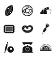 Cakes icons set simple style vector image vector image