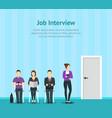 cartoon people waiting job concept scene vector image vector image