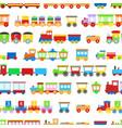 cartoon train toy children concept seamless vector image vector image