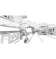 chamonix mont blanc france hand drawn sketch vector image vector image