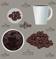 coffee set vector image vector image