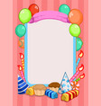 colorful birthday party invitation template vector image vector image