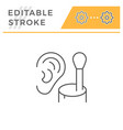 cotton ear stick line icon vector image vector image